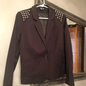 H&M Black studded blazer
